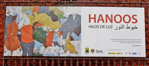 Cartel de la exposición Hilos de Luz de Hanoos en Casa Arabe